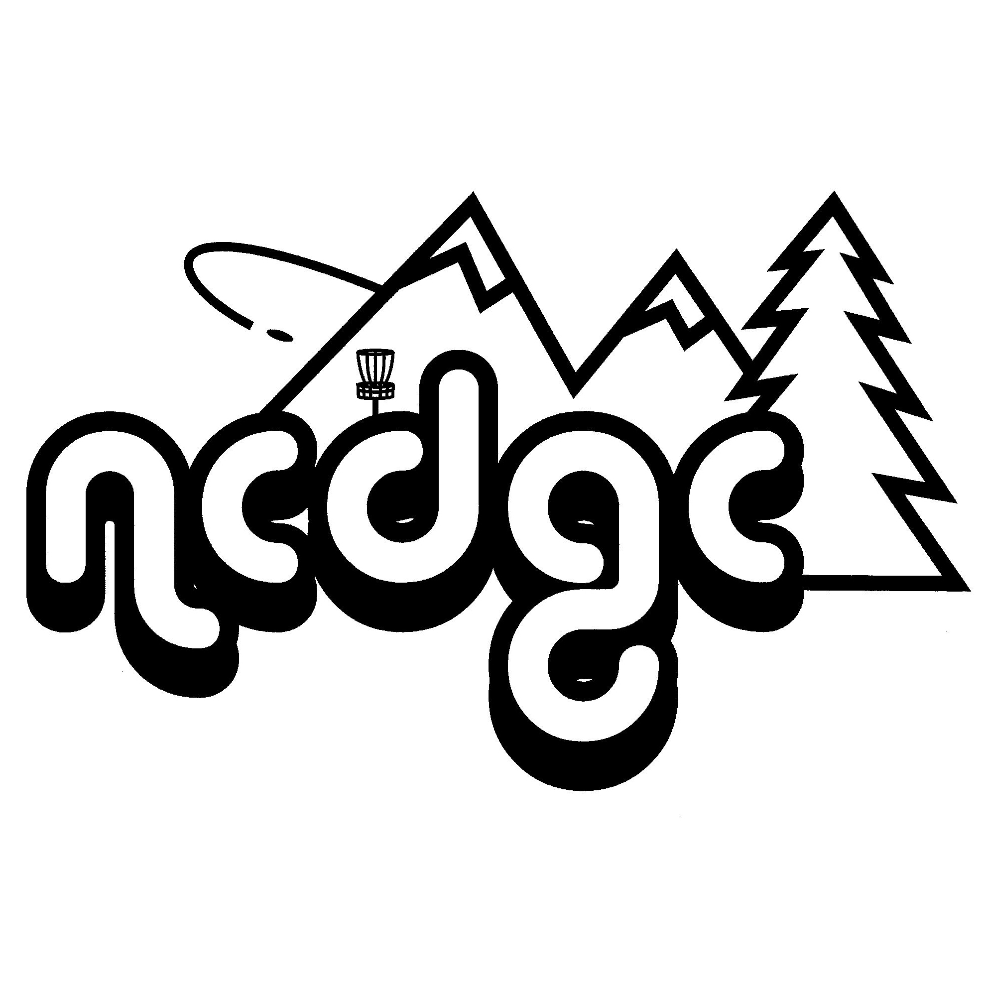 Northern Colorado Disc Golf Club (NoCo) logo with mountains and basket